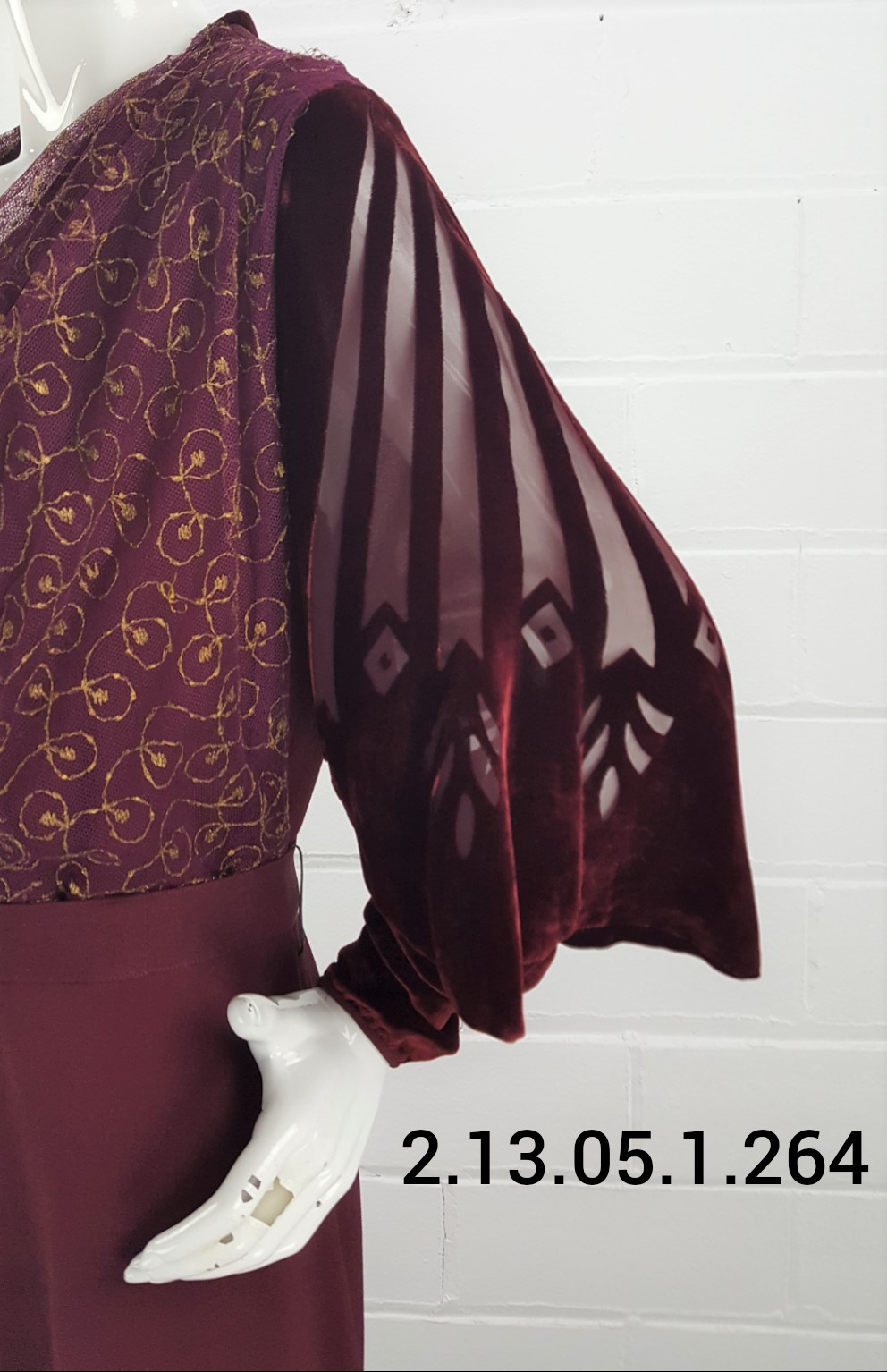 Burgundy-Sleeve