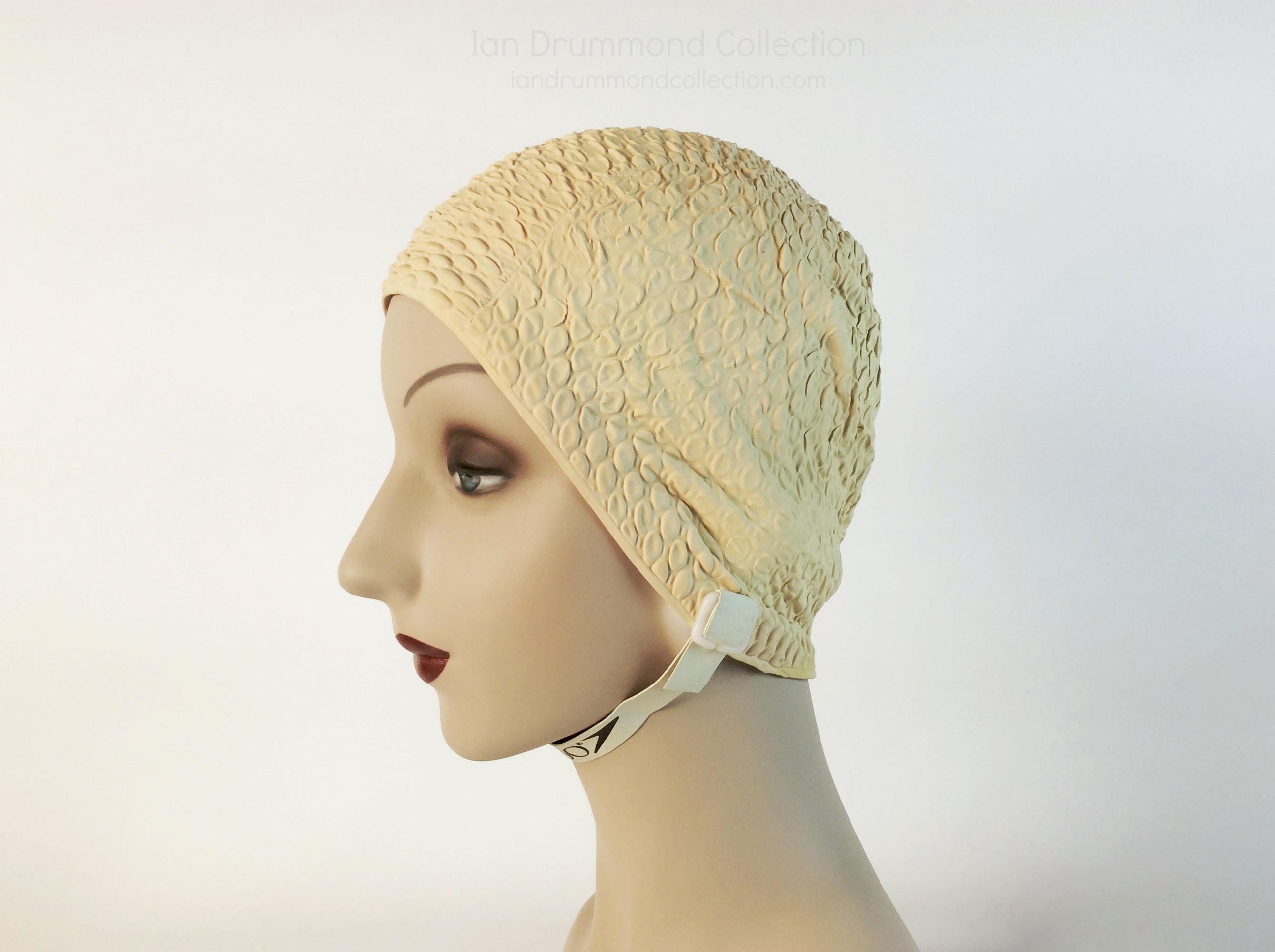 IDC Movie Wardrobe Rental Swim Cap 23 Creamy Pink with Bubble Wrap Design, replacement strap