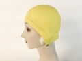 IDC Movie Wardrobe Rental Swim Cap 13 Yellow with Embossed Leaf Design