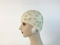 IDC Movie Wardrobe Rental Swim Cap 18 Cream with Raised Dot and Scroll Design