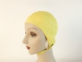 IDC Movie Wardrobe Rental Swim Cap 8 Yellow with Embossed Floer Designs