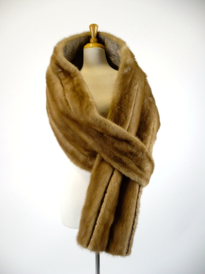 Honey Mink Stole with loop end - alternate styling 5.jpg