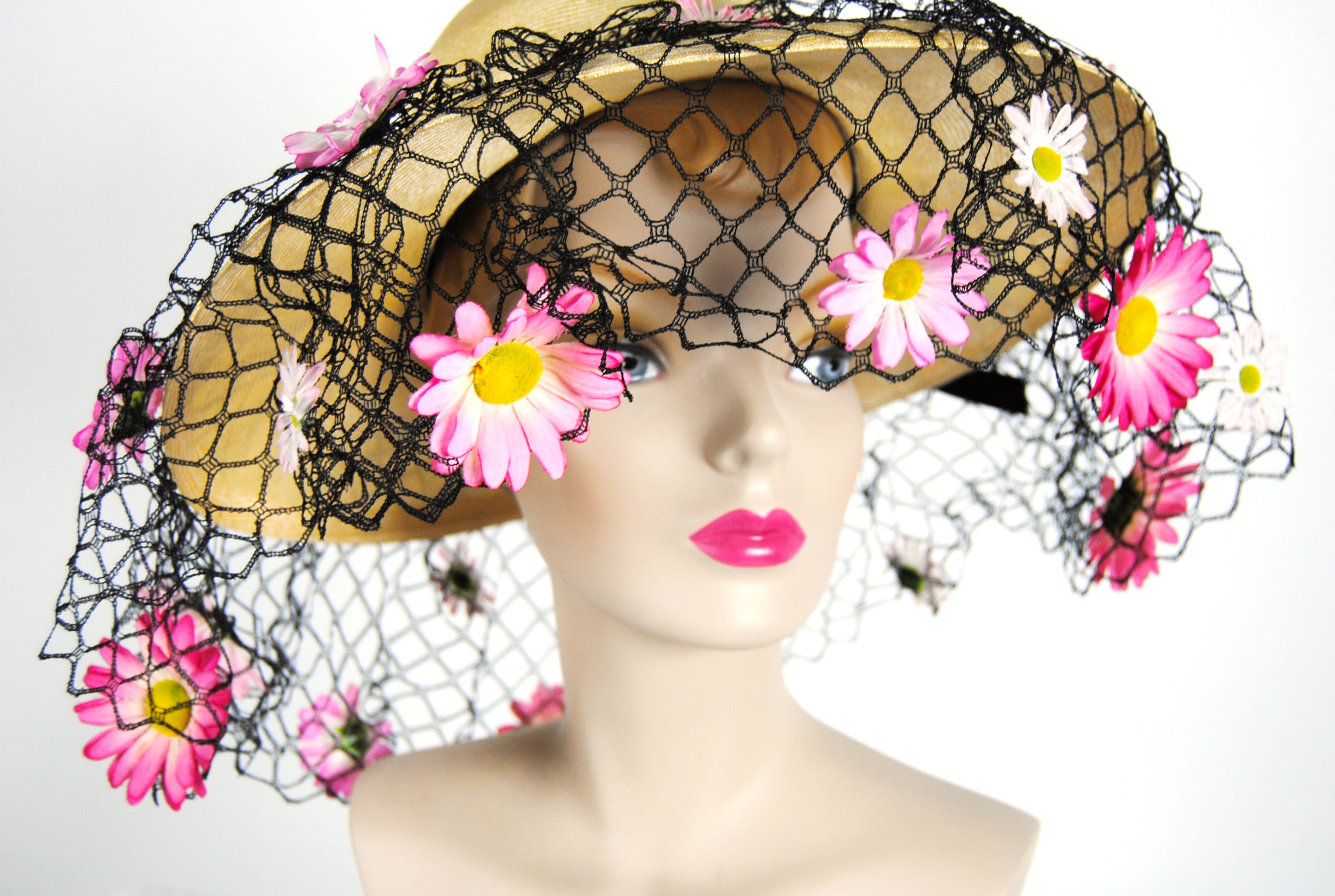 Ian Drummond Collection IDC Toronto Wardrobe Rentals Womens 60s wide brim net daisy