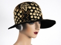 Ian Drummond Collection IDC Toronto Wardrobe Rentals Womens 20s Hat white grapes on black straw