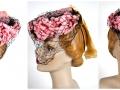 Ian Drummond Collection IDC Toronto Wardrobe Rentals Womens 40s Hat Pink wiht flowers net