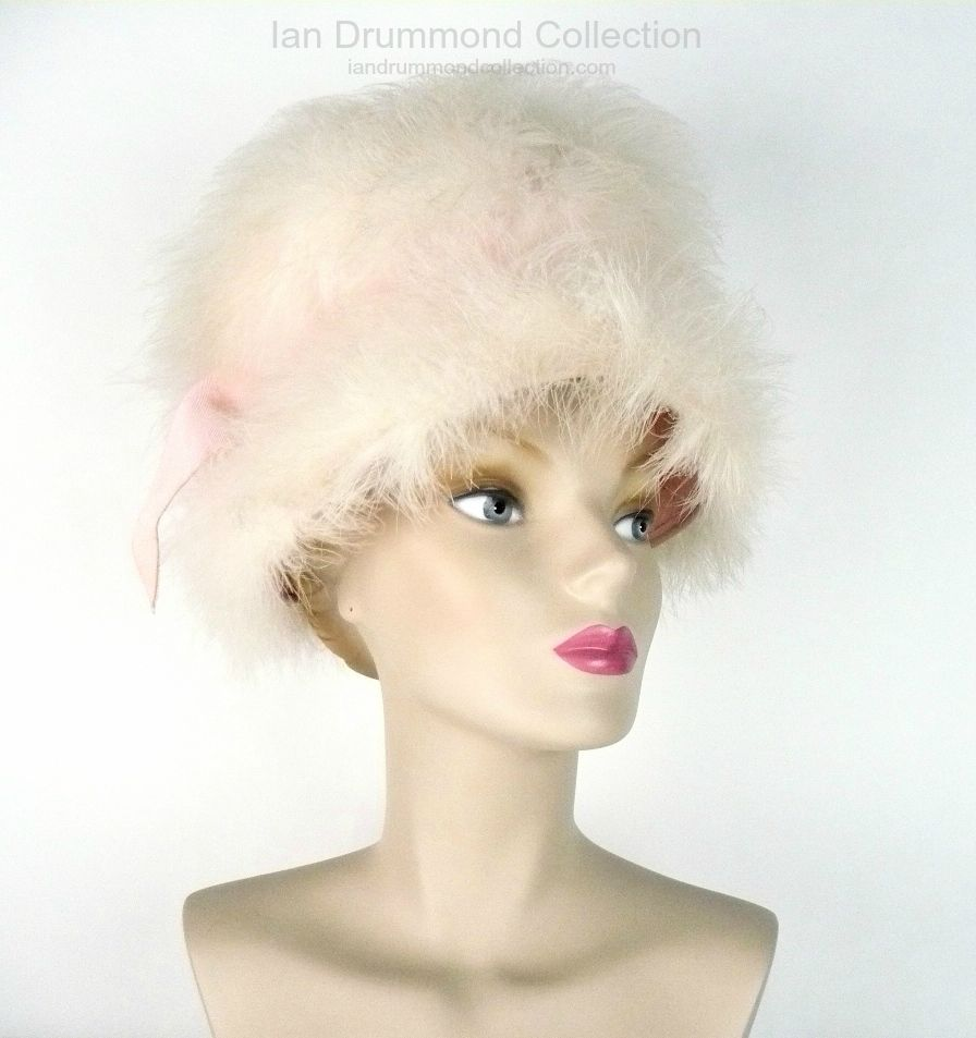 Ian Drummond Collection Toronto Vintage Clothing Show Marabou Hat