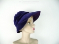 Ian Drummond Collection Toronto Vintage Clothing Show Purple Velvet Hat