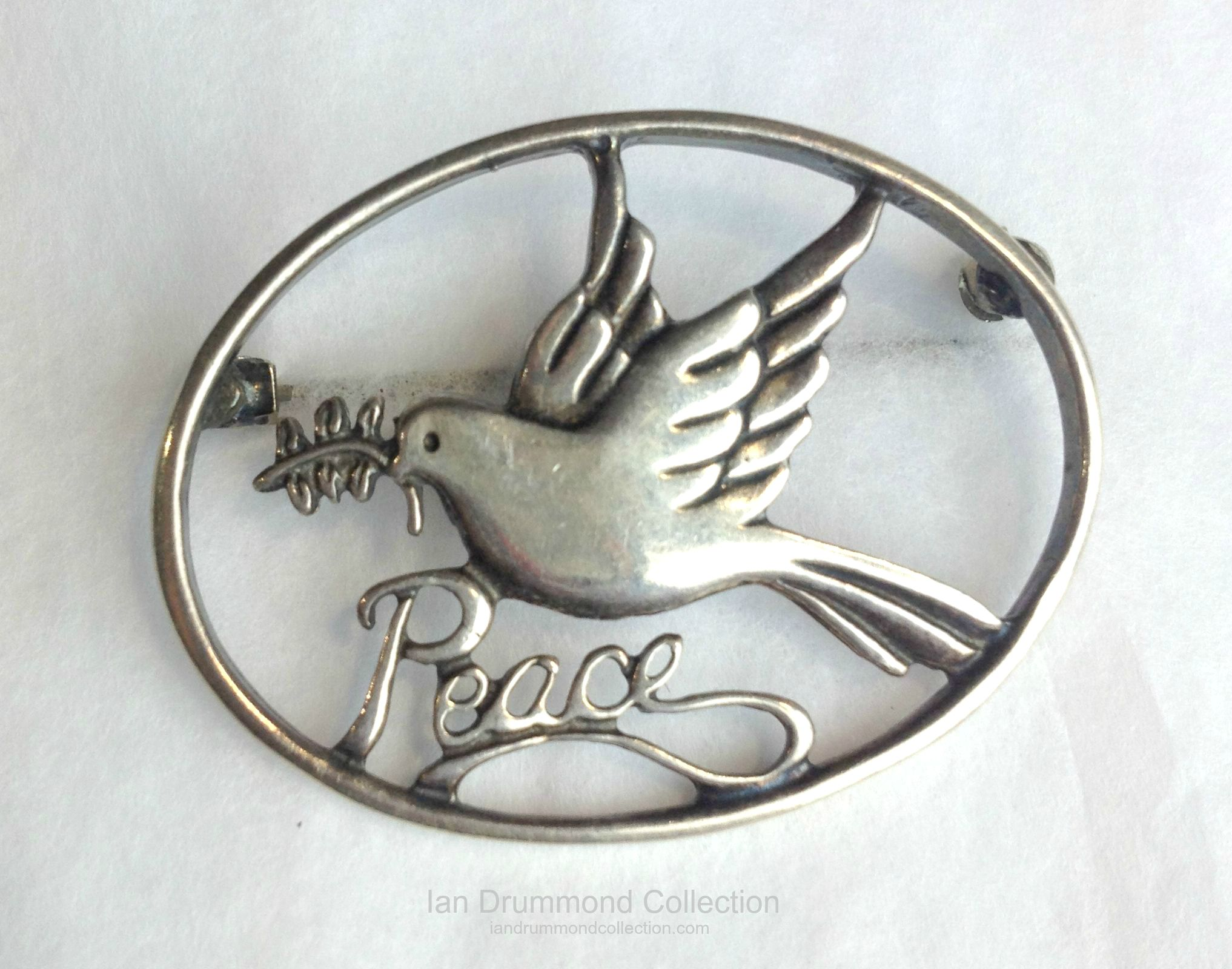 Ian Drummond Collection Toronto Vintage Clothing Show Sterling Peace Pin