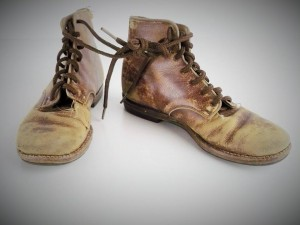 """Character"" boots - Vintage Children's lace-up ankle boots available for rental from Ian Drummond Collection"
