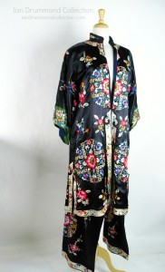 Ian Drummond Collection Chinese Silk Robe and Drawstring Pants