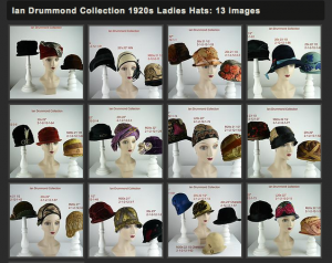 Ian Drummond Collection 1920s Hats on Imgur with Inventory Numbers and Measurements