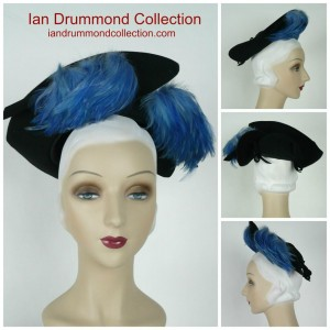 Ian Drummond Collection 1940s Hat Collaged