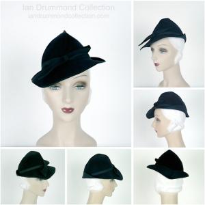 Ian Drummond Collection 1930s Navy Felt Hat