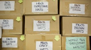 Ian Drummond Collection's Hats as stored in the studio