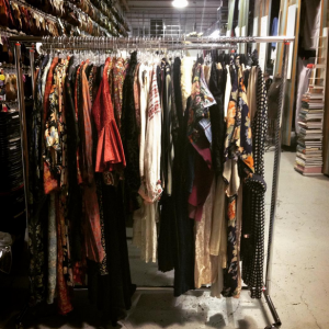 A rack of fresh stock for our 20s and 30s collection at Ian Drummond Collection