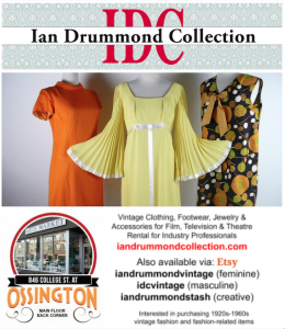 Ian Drummond Collection is always available for retail via Etsy and currently at the Arts Market 846 College St Toronto