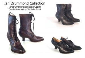 Ian Drummond Collection has good stock in various sizes of these period-style boots and shoes.