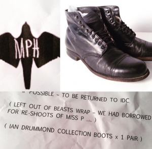 Ian Drummond Colleciton Movie Wardrobe Rental Miss Peregrine's Home for Peculiar Children's Boots