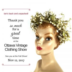 Thank you to Ottawa Vintage clothing Show