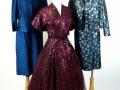 Trio of Metallic mid-century dresses