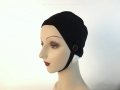 IDC Movie Wardrobe Rental Swim Cap 12 Black Fitted Nylon Simple Cap with Chin Strap