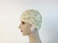 IDC Movie Wardrobe Rental Swim Cap 18 Cream with Raised Dot and Scroll Design