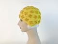 IDC Movie Wardrobe Rental Swim Cap 19 Yellow with Raised Bristle Quatrefoil Design