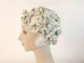 IDC Movie Wardrobe Rental Swim Cap 9 Oyster White with Floppy Petal Flowers