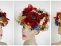 Ian Drummond Collection IDC Toronto Wardrobe Rentals Womens 50s Red Ribbon FloralHat