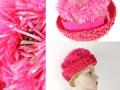 Ian Drummond Collection IDC Toronto Wardrobe Rentals Womens 60s pink straw and flower Hat