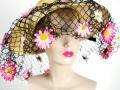 Ian Drummond Collection IDC Toronto Wardrobe Rentals Womens 60s wide brim net daisy