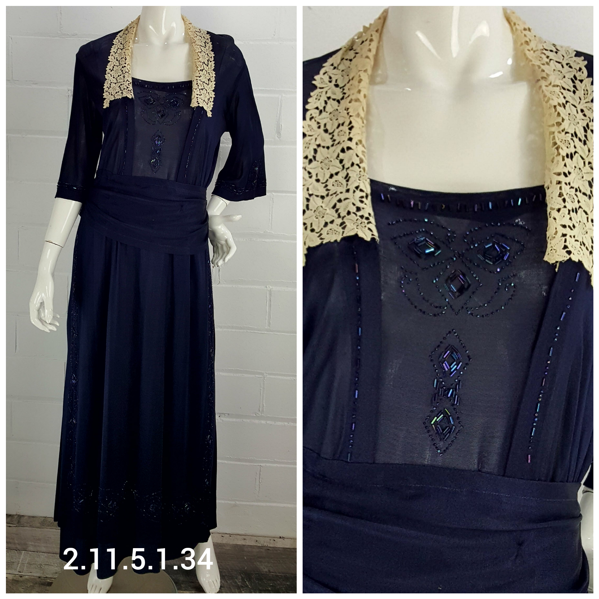 Navy-Lace