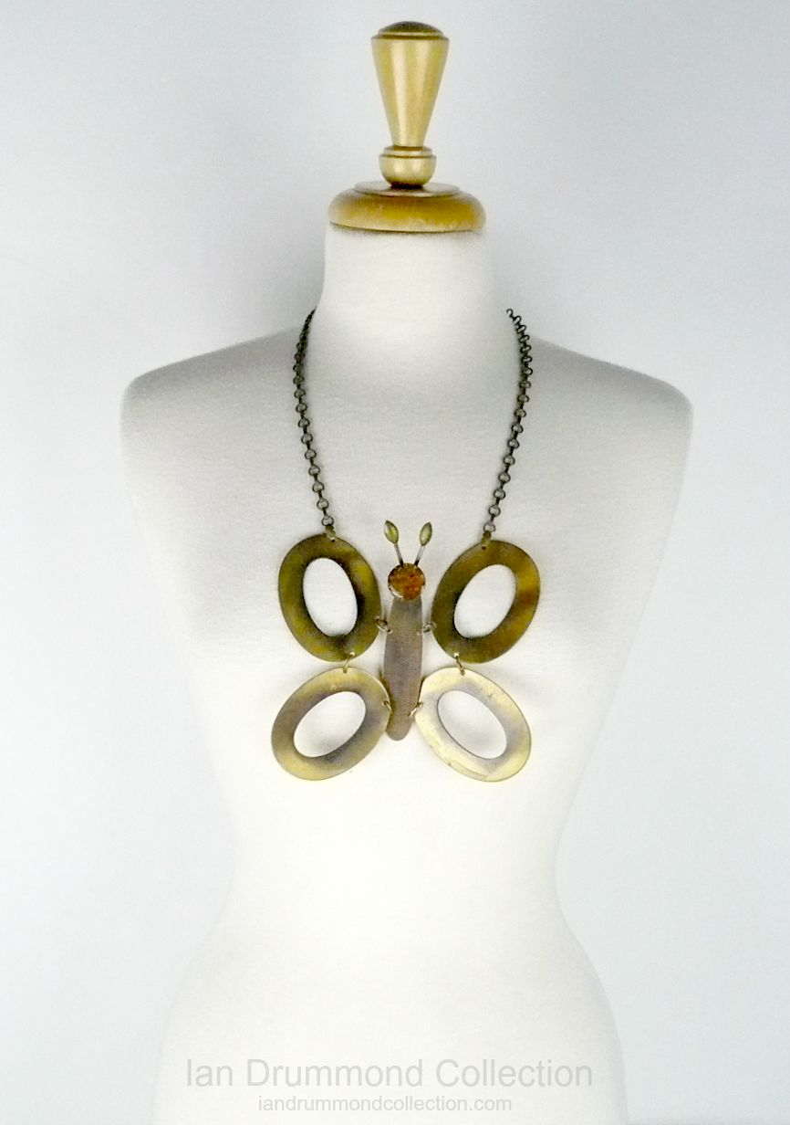 Ian Drummond Collection Toronto Vintage Clothing Show butterfly necklace
