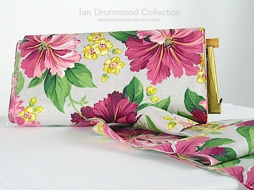 Ian Drummond Collection Toronto Vintage Clothing Show pink hibiscus fabric