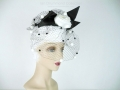 Ian Drummond Collection Toronto Vintage Clothing Show 80s black and white hat