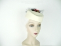 Ian Drummond Collection Toronto Vintage Clothing Show Cream Hat with Cherries