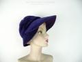 Ian Drummond Collection Toronto Vintage Clothing Show Purple Velvet Hat