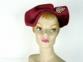 Ian Drummond Collection Toronto Vintage Clothing Show Raspberry hat